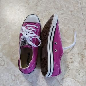 Converse Chunk All Star Pink Low Top Sneakers